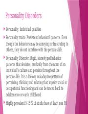 mental health Personality Disorders.pptx