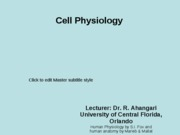 1- cell physiology