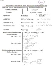 Power Function Notes