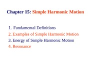 Chapter 15 _ Simple Harmonic Motion