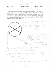 Phys21(W09)MT2 Solutions