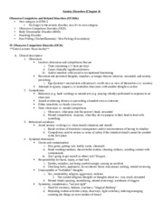 Abnormal Chapter 4 OCD Notes