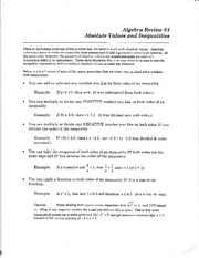 Questions on Absolute Value