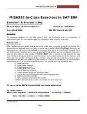 SAP Exercise 3 - Procure to Pay(3).docx