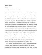 Hatha Yoga I - Introduction and Goals Essay.docx