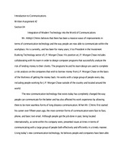 Integration of Modern Technology into the World of Communications Essay FInal Draft