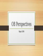 OB Perspectives