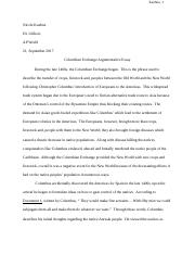 Columbian Exchange Argumentative Essay.docx