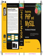 Apress - Beginning PHP and MySQL - From Novice to Professional