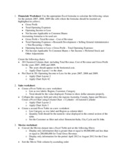 Excel Review Worksheet Study Guide