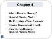 Chapter 4 Financial Planning.