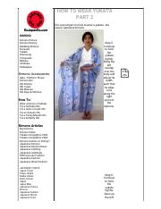 HOW TO WEAR YUKATA PART 2 - Go Japan Go