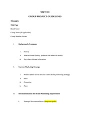 Group Project Guidelines