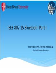 IEEE 802.15 Bluetooth Part I - NOTES