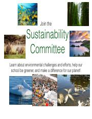 sustainability committee flyer