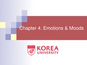 Ch 4. Emotions and Moods