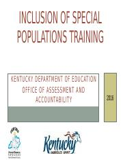 Inclusion of Special Populations Training Revised Jan 2016.pptx