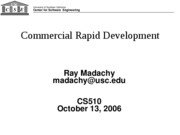 EC-23-cs510 fall 2007 commercial rapid development