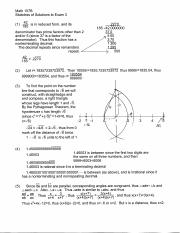 math 107b, sketches of solutions to exam 3-2