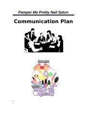 Project_Communication_Plan_Pamper Me Pretty