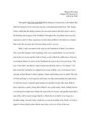 English 168-Essay 1 Thesis and Evidence