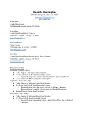 Danielle Harrington Resume