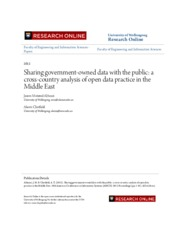 Sharing government-owned data with the public- a cross-country an