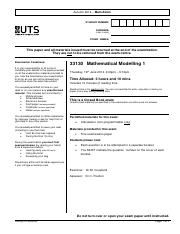 33130_Mathematical Modelling 1_Final_Exam_A2014_in_Template
