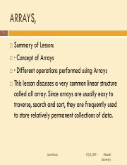 chapter 4-arrays