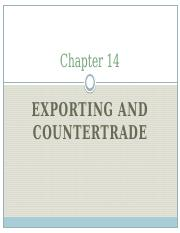 Chapter 14 - reham - exporting and countertrade.pptx