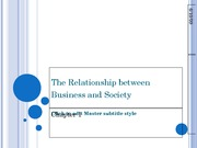 The Relationship between Business and Society