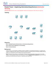 6.3.1.10 Packet Tracer - Exploring Internetworking Devices Instructions IG.docx