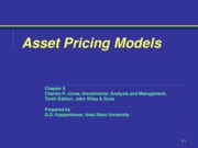 Chapter 9 - asset Pricing Models