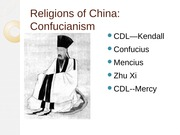 Religions of China and Korea Confucianism(1)