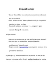 Demand factors