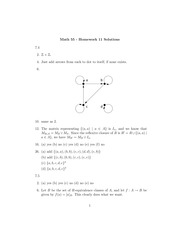 Math 55 Solutions to Problem Set 11