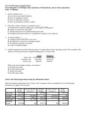 Exam 2 Sample - without answer key.pdf
