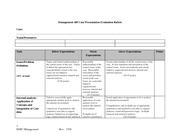 MGMT 405 Case Evauation Rubric