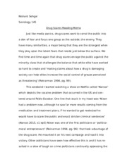 Soc 145 - Reinarmann Reading Memo.docx