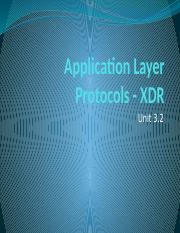 Application Layer Protocols - XDR