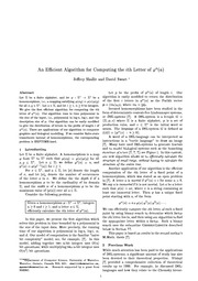 An Efficient Algorithm for Computing the Ith Letter of phi^n(a)