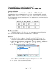 Homework 3 Problem 2 Aspen Energy Analyzer