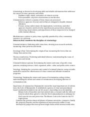 Study Guide- Criminology