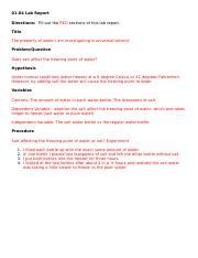 1.04 properties of water lab report