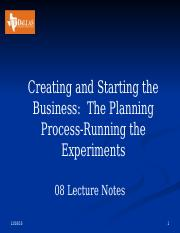 08 Creating the Venture-Running the Experiements Notes.pptx