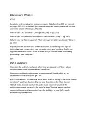 Discussions Week 4