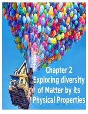 chapter 2 - Exploring Diversity Of Matter By Its Physical Properties