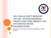 No Child Left Behind (NCLB), Standardized