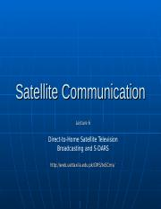 notes_Satellite Communication - 6