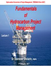 Lecture_9_Fundamentals of Petroleum Project Management(1)